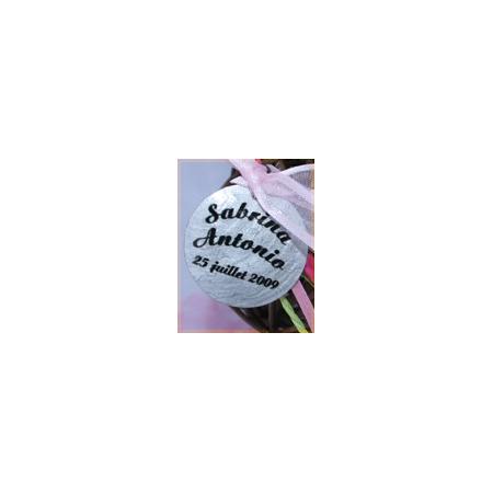 Etiquette transparente écriture ronde