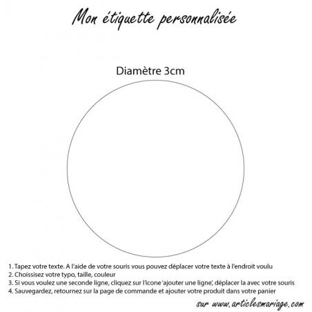 Etiquette ronde transparente
