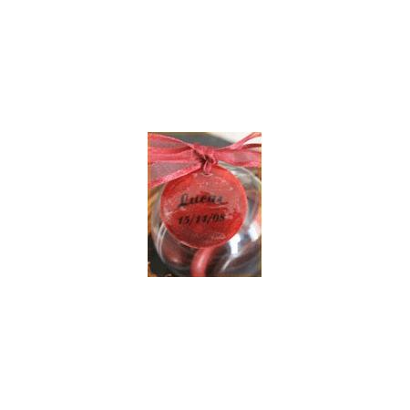 Nominette rouge bijoux foncée