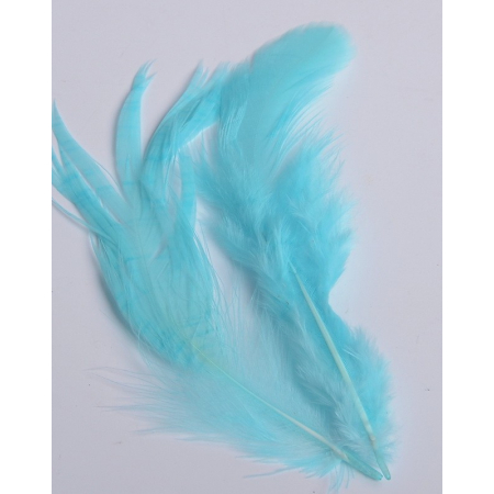 2 gr of small TURQUOISE feathers