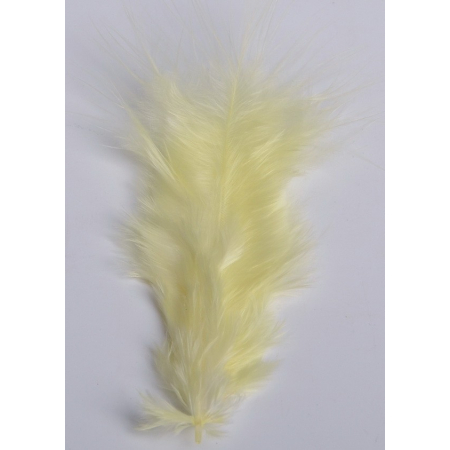 2 gr of small YELLOW feathers