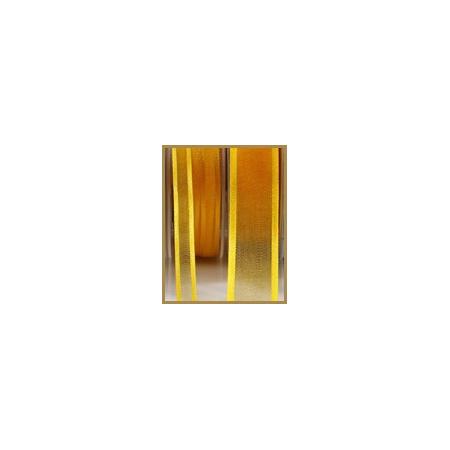 Satin dark yellow ribbon 10mmX50M