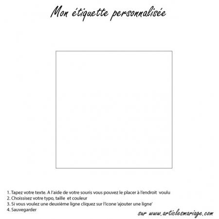 Etiquette carrée blanche