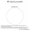 Round label - Standard writing