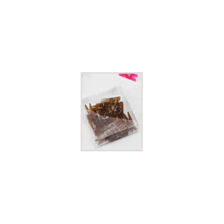 Brown plastic clip