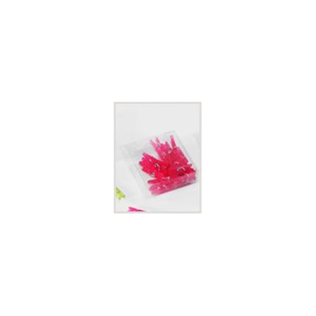 Dark pink plastic clip