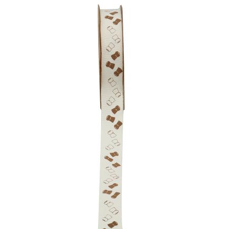 """Ribbon """"DIS MOI OUI"""" white 10mmX10M"""