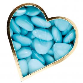 Dragées Coeur Turquoise