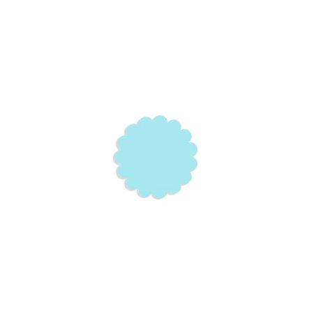 Tulle paper light blue