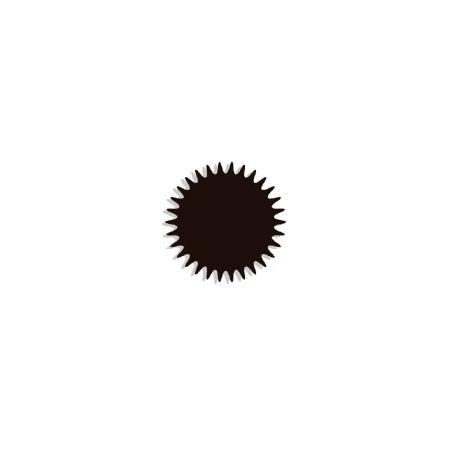 Tulle cristal brun Organza