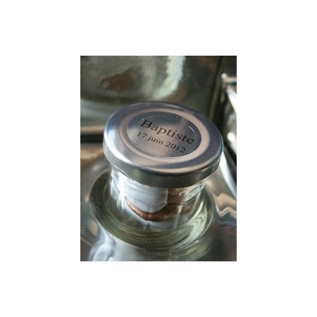 Round transparent label