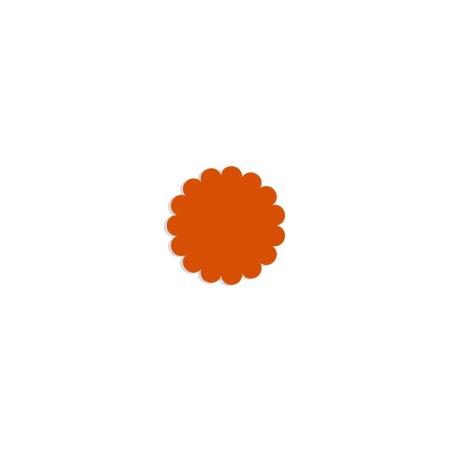 Tulle paper orange