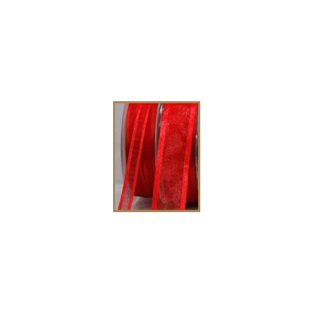 Ruban satin rouge 10mmX50M